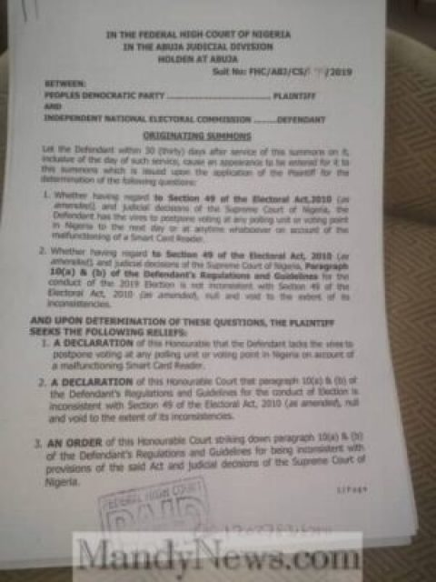 8756686 bd0f36de1200426aaa6eefe739a58da61 jpeg7726b7aefbf0019d9305ebfc4bc47eaf524064904 - Why PDP Sued INEC (See Full Court Documents)