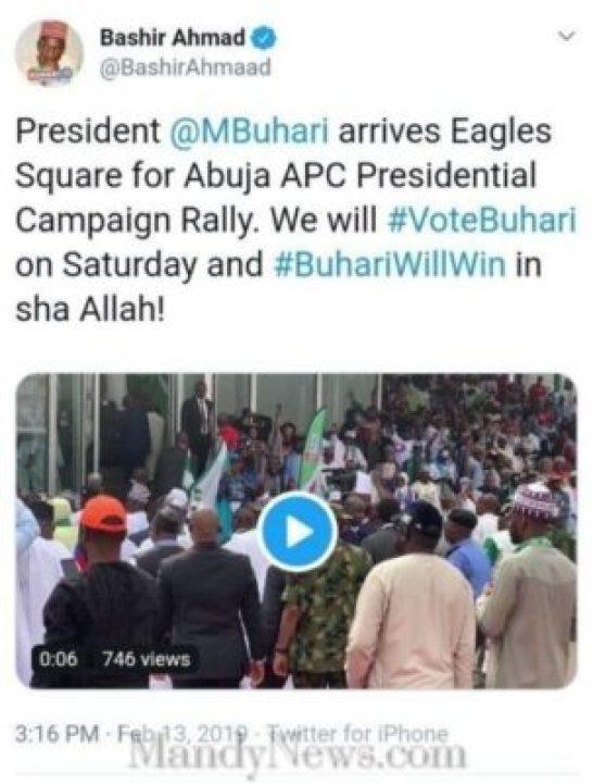 8757762_screenshot20190213154348_jpegfb1ab1d024d9a0cd74af8298e42f42921990947364 Buhari Arrived Eagles Square Abuja To Flag Off Presidential Campaign