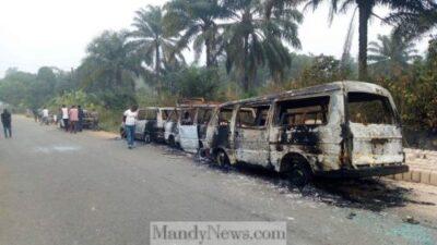 8787918 dzid1icx4au6nso jpegdfd12658a177b8d0d48763ad10216cd6 1024x576 - Two Killed As Thugs Burn INEC Buses In Akwa Ibom (Photos)