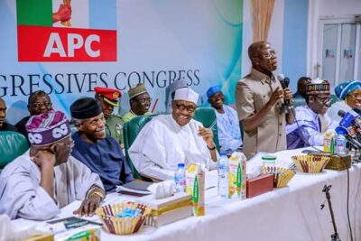 8800009 fbimg1550496607696 jpegf508226daba1a8981687c28a00962c61 - Buhari, Tinubu, Oshiomhole, Amaechi, Others At APC Caucus Meeting In Abuja (Pix)