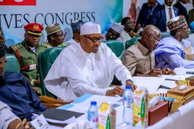8800020 fbimg1550496599328 jpeg2d972fcc31c85fa162e081190037cba6 - Buhari, Tinubu, Oshiomhole, Amaechi, Others At APC Caucus Meeting In Abuja (Pix)