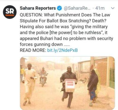 """8801871 img20190218wa0021 jpeg0b86b68353891965d012fd8f8c253cf5 - """"Jungle Justice"""": Buhari's Threat To Ballot Box Snatchers Got Nigerians Talking"""