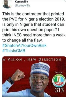 8807621 screenshot20190219102330 jpeg11364c47d8de5ff9f9ff72d3f5da1598 - Meet Senator Musa Who Printed 2019 PVCs, He Is APC Senatorial Candidate (Pix)