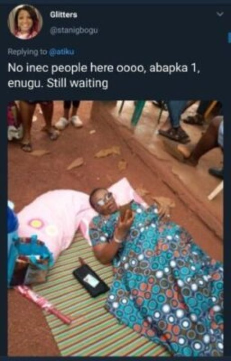 8845378_screenshot20190223120010_jpeg85bbddecb83ab707a9d5b31c00f3bbad Nigeria Decides: Woman Brought Mat And Pillow To Polling Unit, Davido Reacts