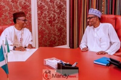 D0V2thtUwAE4pEe - President Buhari Receives Briefing From El-Rufai At State House (Photo)