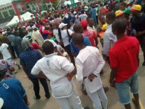 DzNB4ZBXQAA8NEw 300x225 - The Momentum Is Gathering Already For Atiku's Lagos Rally (Photos)