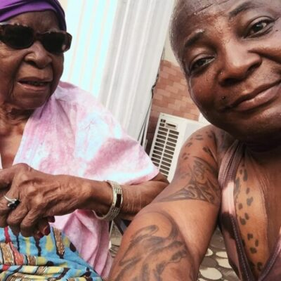 IMG 20190222 093130 246 - Charly Boy Shares Emotional Moment With His 101-Year Old Mother (Video)