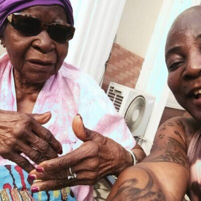 IMG 20190222 093155 544 - Charly Boy Shares Emotional Moment With His 101-Year Old Mother (Video)