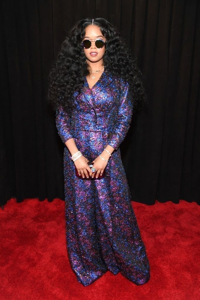 attends-the-61st-annual-grammy-awards-at-staples-center-on-news-photo-1097515152-15498434681687006250 All Grammys 2019 Red Carpet Celebrity Dresses & Looks (Photos)