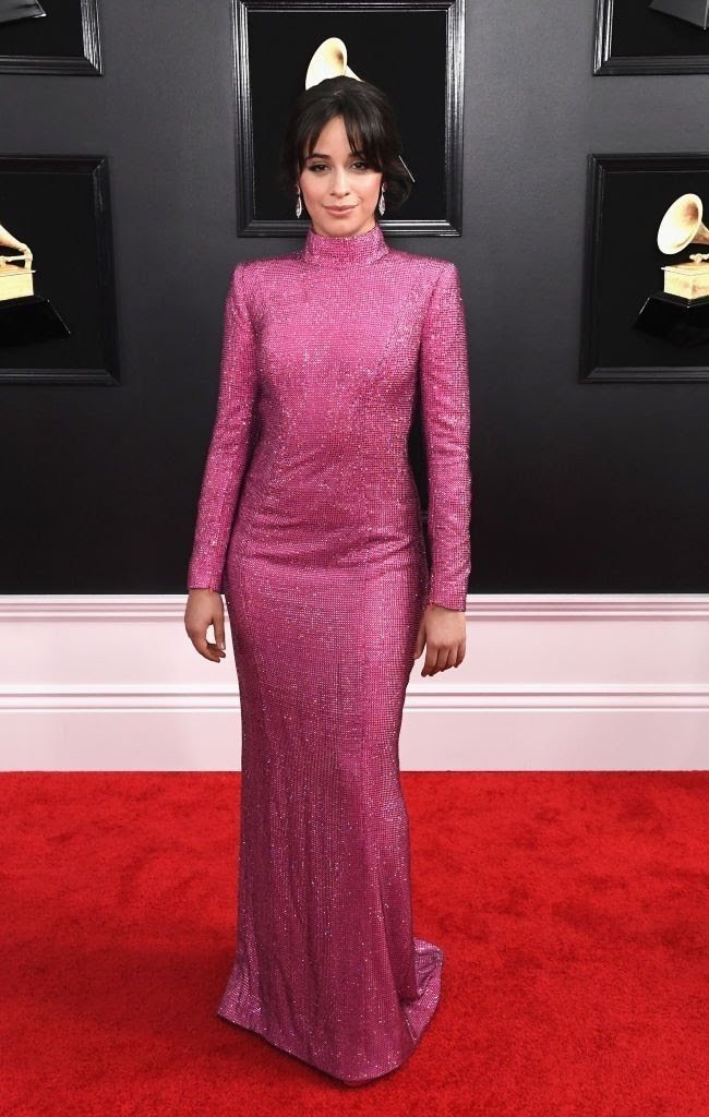 camila cabello attends the 61st annual grammy awards at news photo 1097502562 15498411901525407717 - All Grammys 2019 Red Carpet Celebrity Dresses & Looks (Photos)