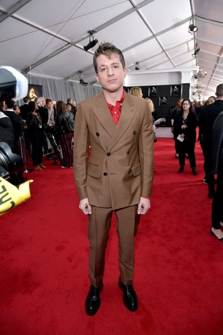 charlie puth attends the 61st annual grammy awards at news photo 1097514866 1549843667587899387 - All Grammys 2019 Red Carpet Celebrity Dresses & Looks (Photos)