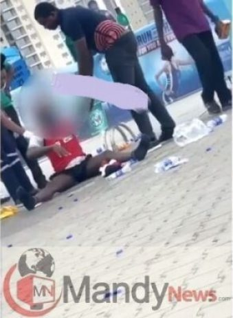 dude-mad179238574. Shock As Participant Runs Mad In Broad Daylight At The 2019 Lagos City Marathon (Video)