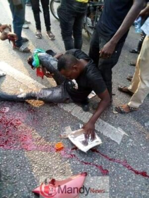 fb img 154923921323781731221584133 - Bus Crushes A Man's Leg In Ogun State (Viewers' Discretion Advised)