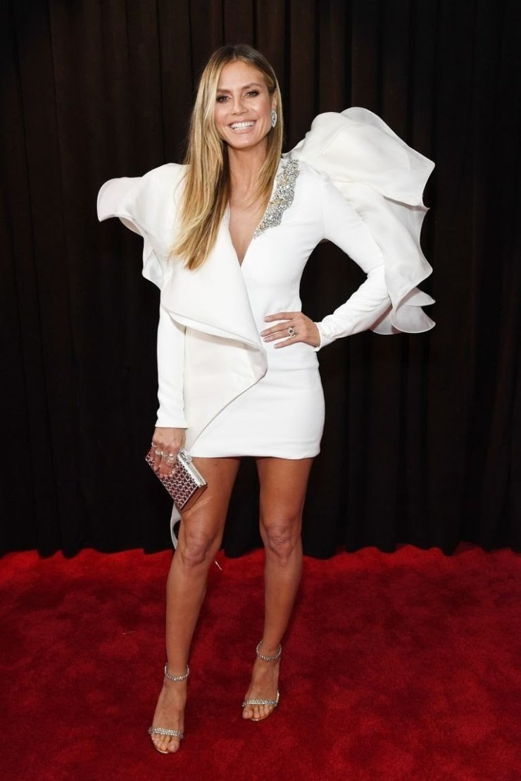 heidi klum attends the 61st annual grammy awards at staples news photo 1097522238 15498442731237460824 - All Grammys 2019 Red Carpet Celebrity Dresses & Looks (Photos)