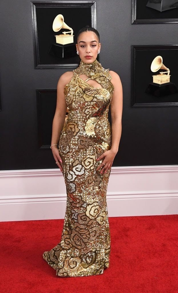 jorja smith attends the 61st annual grammy awards at news photo 1097526536 15498462661329337385 - All Grammys 2019 Red Carpet Celebrity Dresses & Looks (Photos)