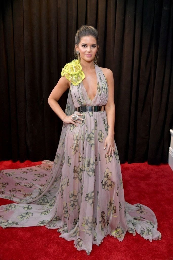 maren-morris-attends-the-61st-annual-grammy-awards-at-news-photo-1097509938-15498423821754593285 All Grammys 2019 Red Carpet Celebrity Dresses & Looks (Photos)