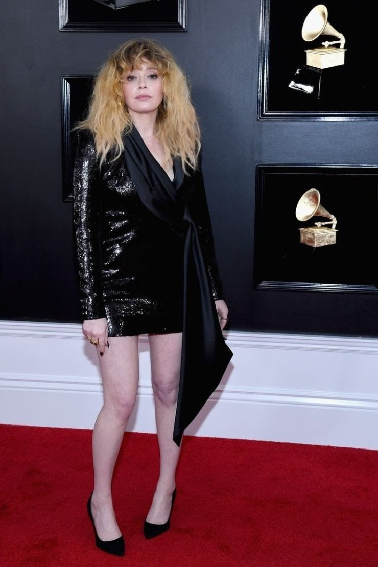 natasha-lyonne-attends-the-61st-annual-grammy-awards-at-news-photo-1097526234-15498463581497712471 All Grammys 2019 Red Carpet Celebrity Dresses & Looks (Photos)