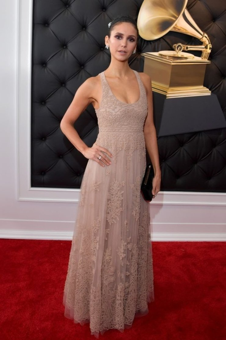 nina dobrev attends the 61st annual grammy awards at news photo 1097521932 1549844105337753931 - All Grammys 2019 Red Carpet Celebrity Dresses & Looks (Photos)