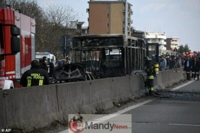 11231494 6830639 image a 40 1553092351677 - Senegalese Driver Hijacks School Bus With 49 Kids, 2 Teachers And Sets It Ablaze