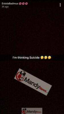 """1553373811494 - """"I Am Considering Of Suicide"""" - Actress Eniola Badmus"""