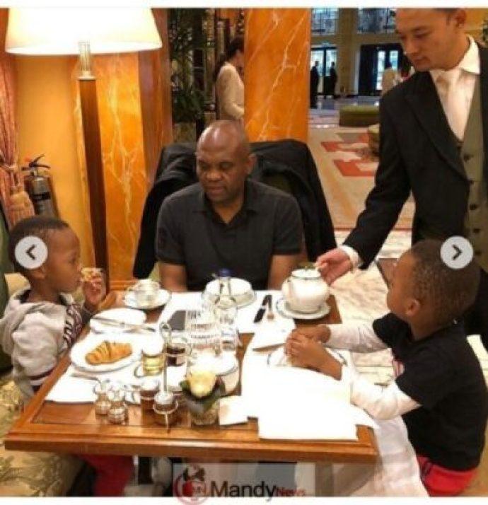 8907276_screenshot201903021351351551531475065_jpegbc7403f518c17bb5f2f37bd4d716f556 Tony Elumelu Having Breakfast With His Twin Boys (Photos)