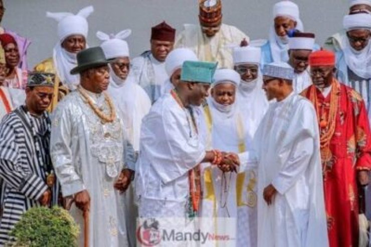 8926911_52522916318874972100933716816719358167315n_jpegdf687526a37e0a525ab2c54b6094b108 President Buhari Receives A Congratulatory Visit From Traditional Rulers (Pics)