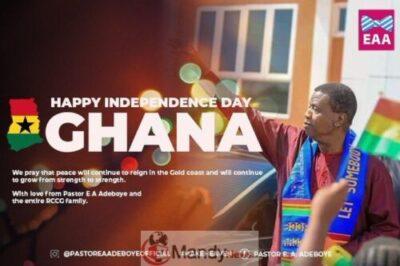 D0 rKRHWsAMp y7 - #GhanaAt62: Adeboye Celebrates Ghana On 62nd Independence Day Anniversary