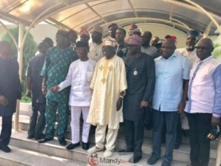 D0qseKCWkAApn73 Tinubu Meets All The Political Warriors In Lagos (Pics)
