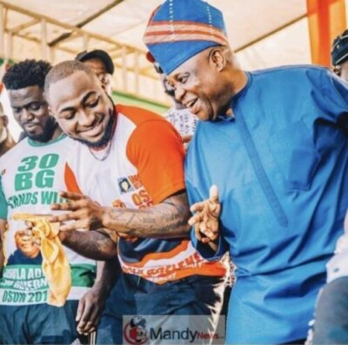 D2RPju6X0AA-MzV Davido Congratulates His Uncle After Been Declared Governor Of Osun