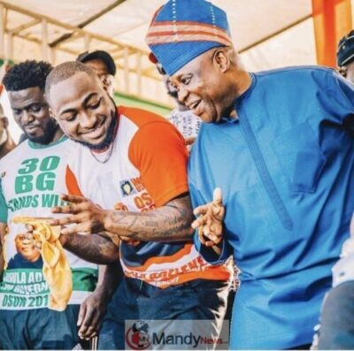 D2RPju6X0AA MzV - Davido Congratulates His Uncle After Been Declared Governor Of Osun