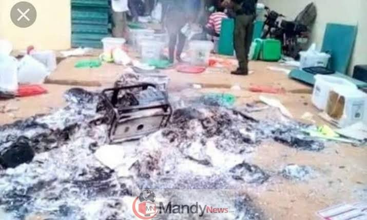 images 1 6 - Thugs Set Electoral Supplies Ablaze In Benue
