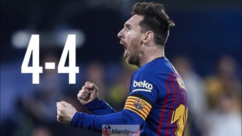 Messi 1024x576 - Barcelona vs Villarreal 4-4 All Goals & Highlights 02/04/2019