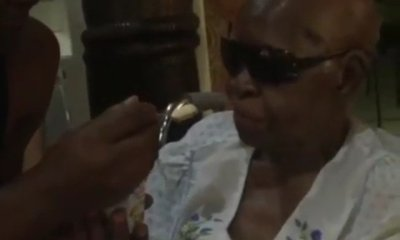 Charlyboy Feeds His 101 Year Old Mother Food