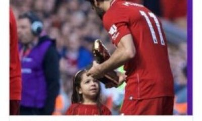 Liverpool Star Mohamed Salah Celebrates Golden Boot