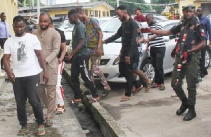 9447602_24bb1646a28439b56b12e0519edae7e5_jpeg48bd5f68d21051eaceb5175272fd31f0 EFCC Arrests 8 Yahoo Boys In Lagos. See Them With Their Laptops (Photos)