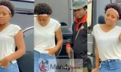 Actress Regina Daniels Poses With Her Armed Bodyguard