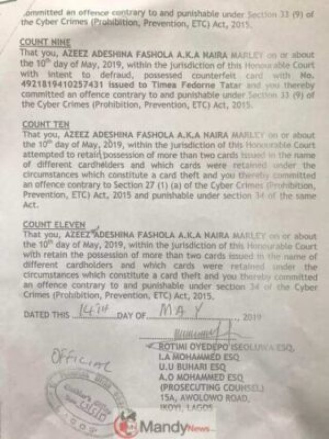 Azeez-02 Naira Marley Signs His Charge Sheet Ahead Of His Arraignment On Monday (Pics)