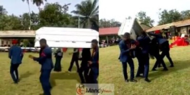 Corpse-falls-off-casket Corpse Falls Out Of Coffin During A Dance By Pallbearers (Video)