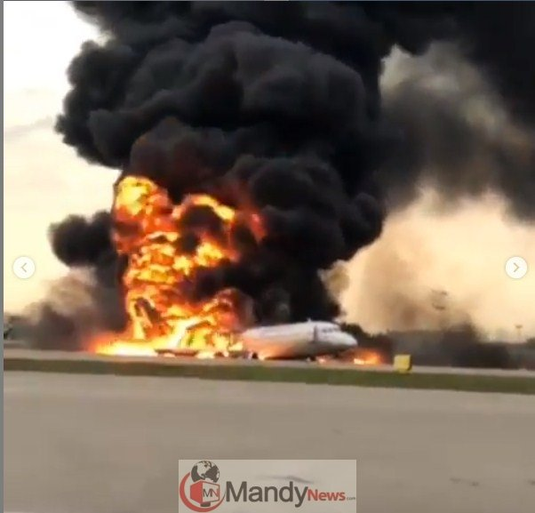 Screenshot_1-2 41 Killed After Russian Airplane Catches Fire (Photos,Video)