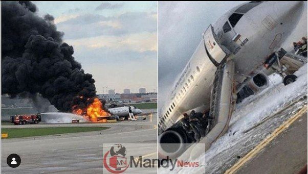 Screenshot_7-1 41 Killed After Russian Airplane Catches Fire (Photos,Video)