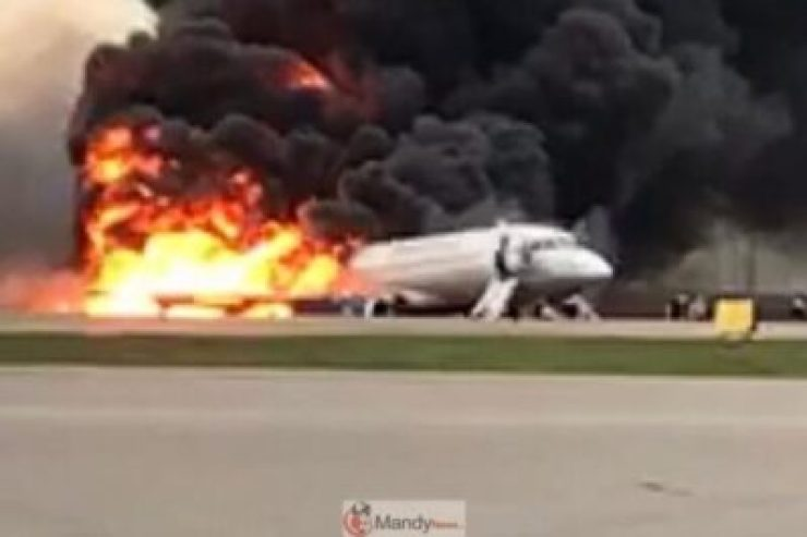 moscowplanefire050519f-1024x682 41 Killed After Russian Airplane Catches Fire (Photos,Video)