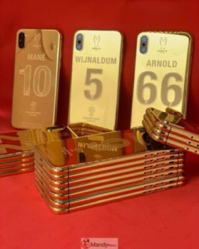 61371740_2246489975440519_831243433391645400_n Liverpool Squad Receive Insane Customised Champions League 24K Gold Plated iPhone X