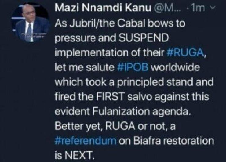 9756931_img20190703191239710_jpega9ecd35a846b4c32960ff87e8370abba See Nnamdi Kanu's Reaction As President Buhari Suspends RUGA Implementation