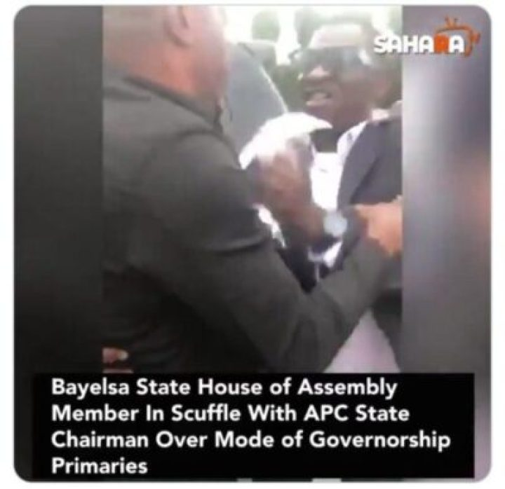 9855404_screenshot201907181728301_jpega7397f30d6988a8c61b38d6e6463b79c Lawmaker Fights With Bayelsa APC Chairman Over Mode Of Primaries (Pics)