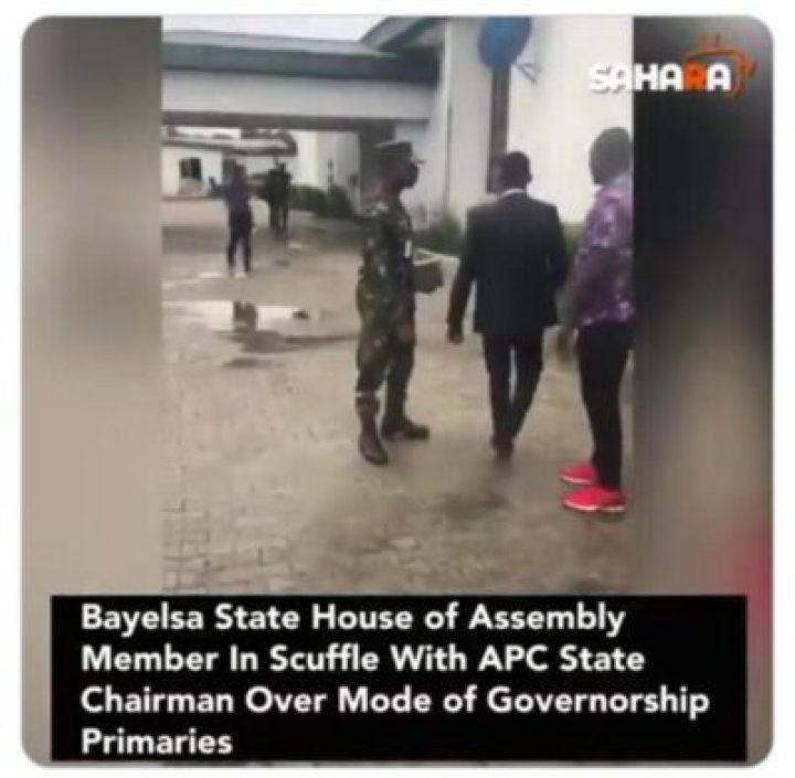 9855406_screenshot201907181729571_jpeg6549614db3e23d72915b1d6f131c18a7 Lawmaker Fights With Bayelsa APC Chairman Over Mode Of Primaries (Pics)
