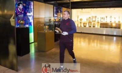 messi golden boot 1 - Messi's 6th Golden Shoe On Display In Museum