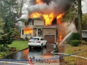 plane-crash-300x225 Plane Crashes Into New Jersey Home, Killing Pilot And Sparking Fire (Video)