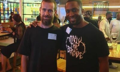 Darey Art Alade Pictured With Twitter CEO Jack Dorsey In Lagos - Darey Art Alade Pictured With Twitter CEO Jack Dorsey In Lagos