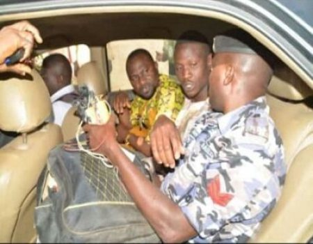 Nathaniel Samuel, Nigeria police holding bomb