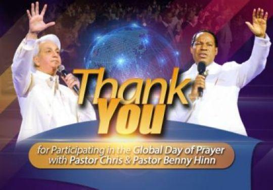 Pastor Chris, Benny Hinn Launch Global Prayer Against Covid-19